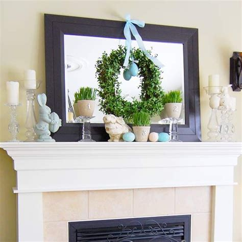 43 stylish easter mantel decorating ideas digsdigs