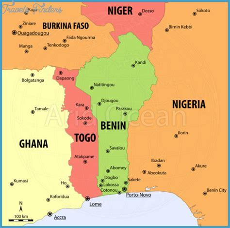 africa map benin benin map travelsfinders