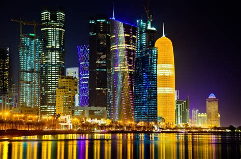 wallpaper hd qatar doha at night computer wallpapers desktop backgrounds