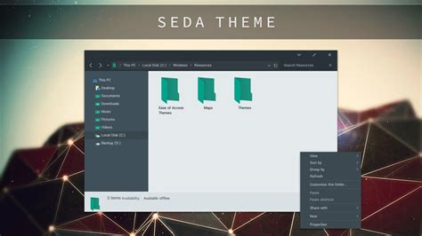 themes for windows 10 1709 seda theme for windows 10 by unisira on deviantart