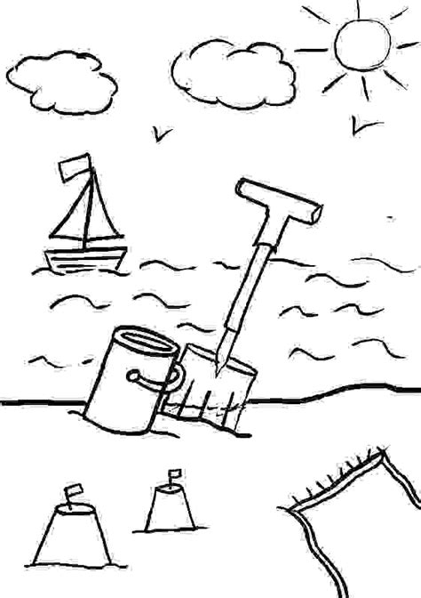 printable seaside templates free building sand castles coloring pages