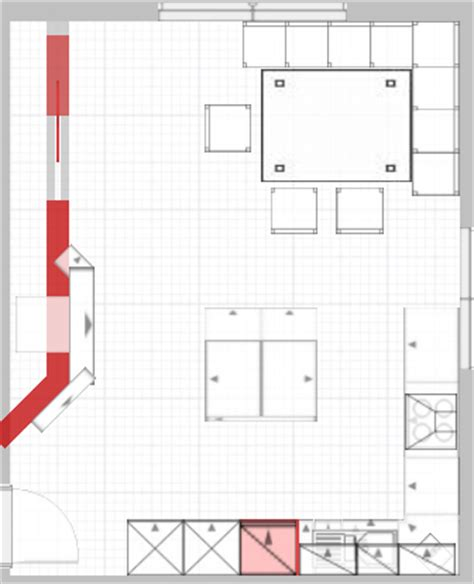 Wieviel Platz Pro Person Am Tisch by K 252 Chenplanung U Form Mit Quot Fast Insel Quot Spritzschutz