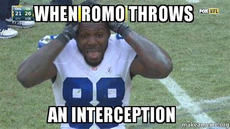 Romo Interception Meme - when romo throws an interception make a meme