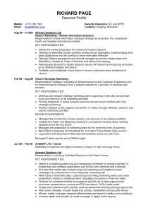 template for personal profile exles of profiles on resumes sles of resumes