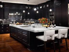 Kitchens With Black Cabinets Pictures Black Kitchen Cabinets With Any Type Of Decor Homefurniture Org