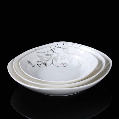 G Ci White Ceramic china porcelain plates promotion shop for promotional