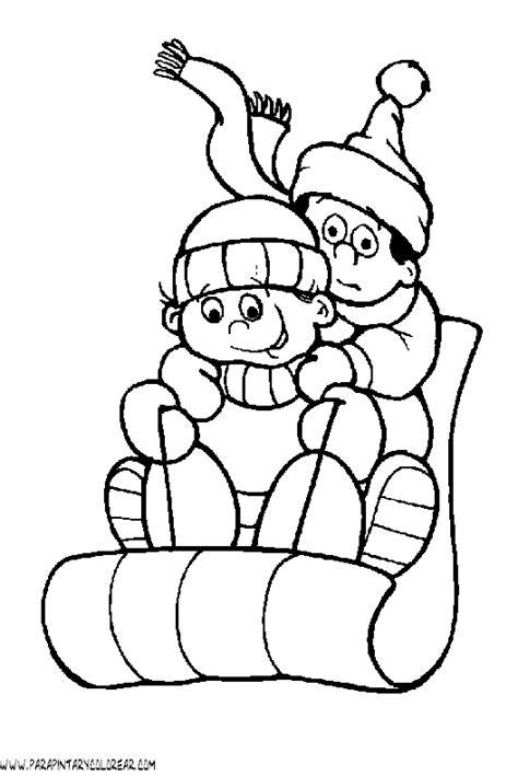 imagenes para colorear vacaciones de invierno dibujos de invierno para colorear 110