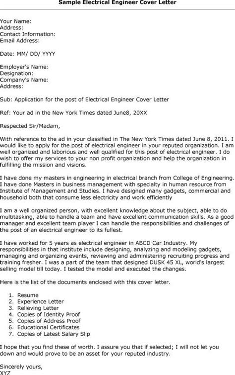 cover letter for application for engineers resume exles templates new graduate electrical