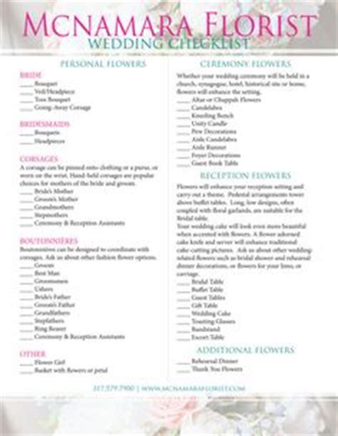 printable wedding flower checklist wedding ceremony checklist steps for a better florist