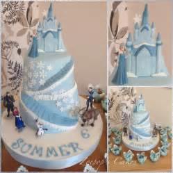 Frozen castle cake by zoepop cakesdecor