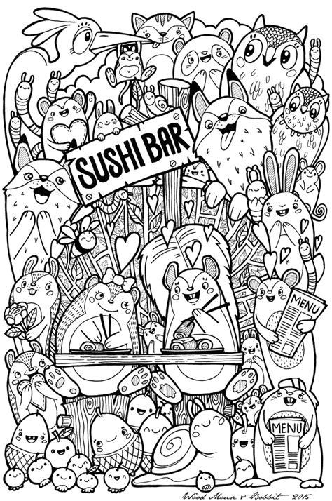 kawaii sushi coloring pages kawaii sushi coloring pages
