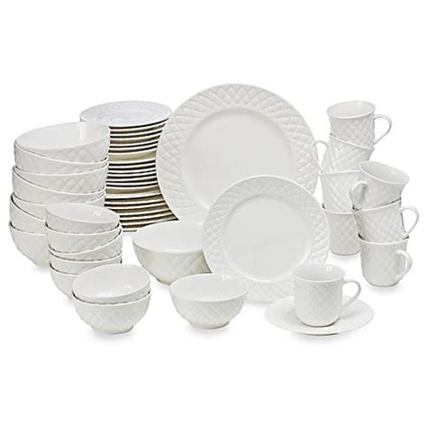 bed bath and beyond dishes gibson home antique quilt 48 piece dinnerware set bed