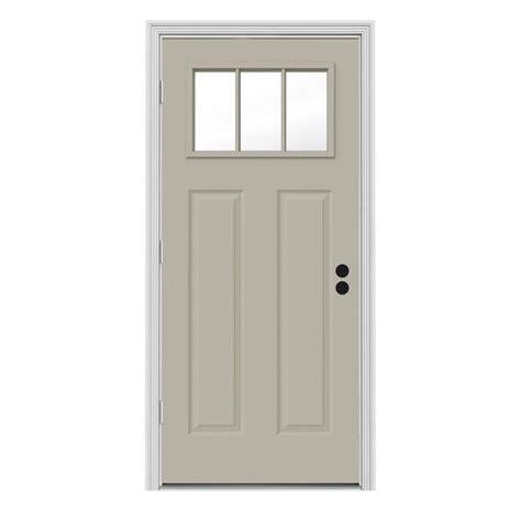 Jeld Wen 31 438 In X 81 75 In 3 Lite Craftsman Desert Outswing Front Door