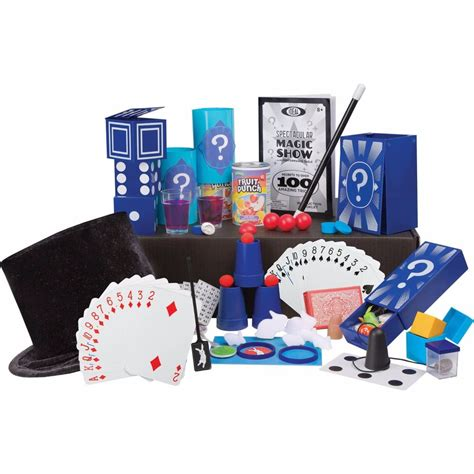 Set Shown Kid spectacular magic show ideal 100 trick suitcase kit