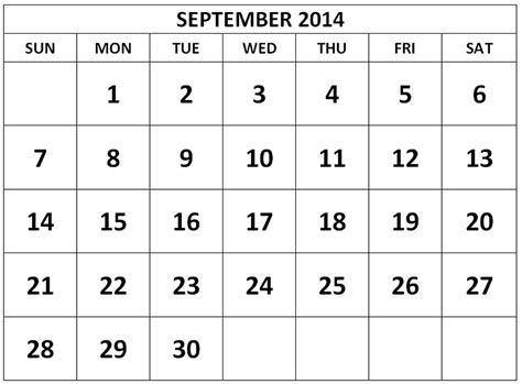 printable september 2014 calendar gameshacksfree