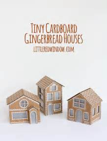 make your house tiny cardboard gingerbread houses little red window