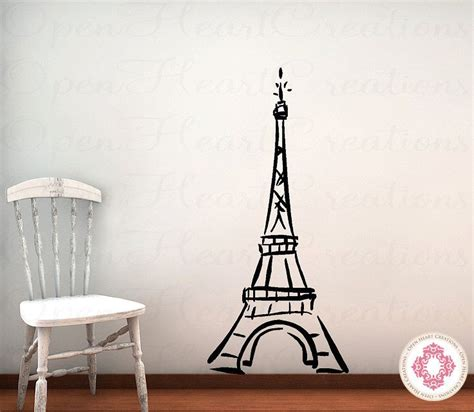 cute teenage girls room decor with eiffel tower theme eiffel tower vinyl wall decal baby nursery girl teen