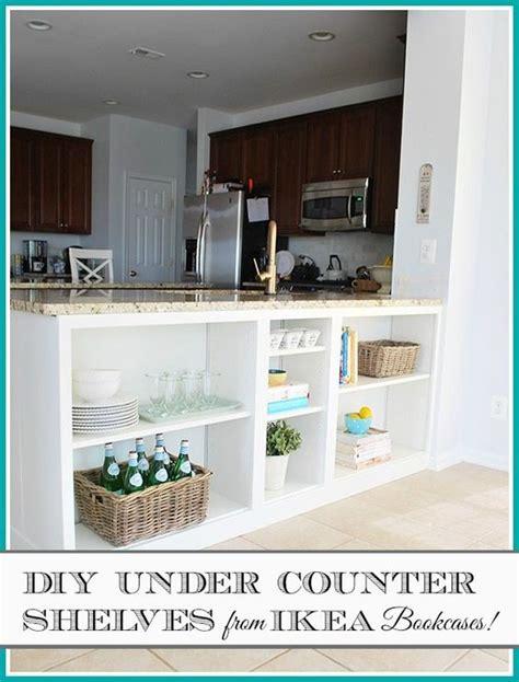 ikea under cabinet storage homeright bookcase challenge diy bookcase to kitchen