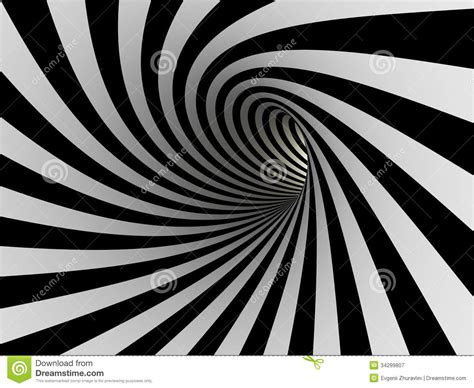 lines on tunnel of black and white lines stock illustration image