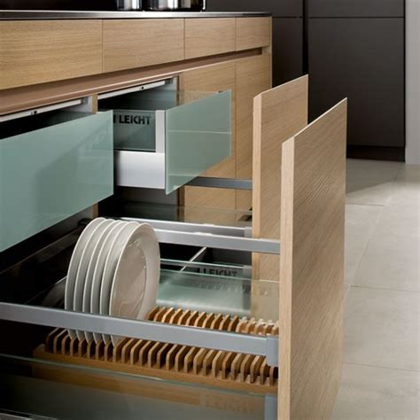 kitchen drawer storage ideas crockery and cutlery drawer from leicht kitchen storage