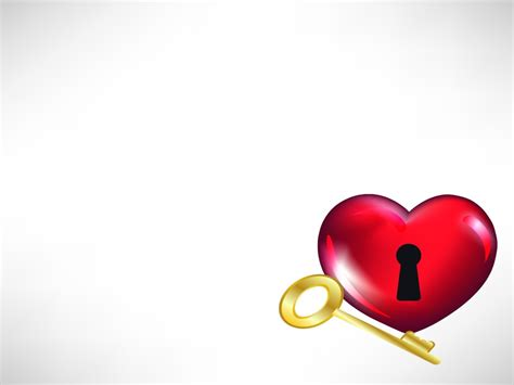 love key themes heart and key for love backgrounds 3d love ppt