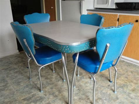retro chrome kitchen table vintage blue kitchen table the interior design inspiration board