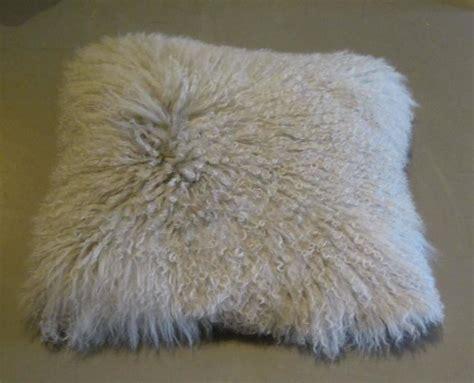 Mongolian Lambswool Pillow by White Mongolian Pillow China At 1stdibs