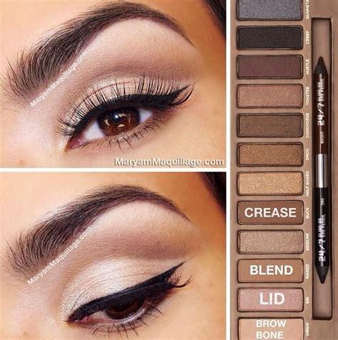 eyeshadow tutorial everyday naked 2 eye makeup tutorial beauty pinterest urban