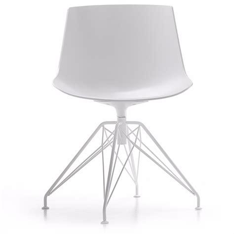 Mdf Italia Chair by Flow Chair By Mdf Italia Lem Steel Base