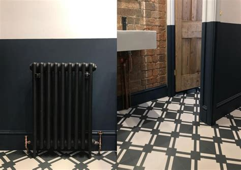 Black And White Checkered Bathroom Floor by Office Space Renovation Part 2 Joel Larosa Design