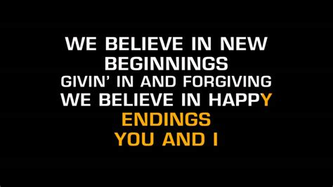 We Believe In johnny rodriguez we believe in happy endings karaoke
