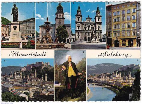mozart born city salzburg mozart city salzburg austria postcard 1164