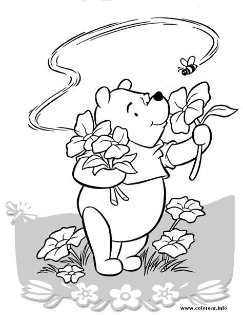 imagenes de winnie pooh con flores pooh cogiendo flores winnie the pooh dibujos e imagenes