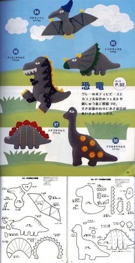 pattern for felt dinosaur dino felt ce crafts felt pinterest felt