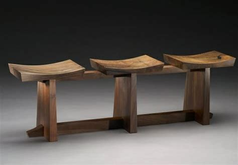 bench designer home furniture design of grafted contemporary 3 seat claro walnut bench by brian hubel