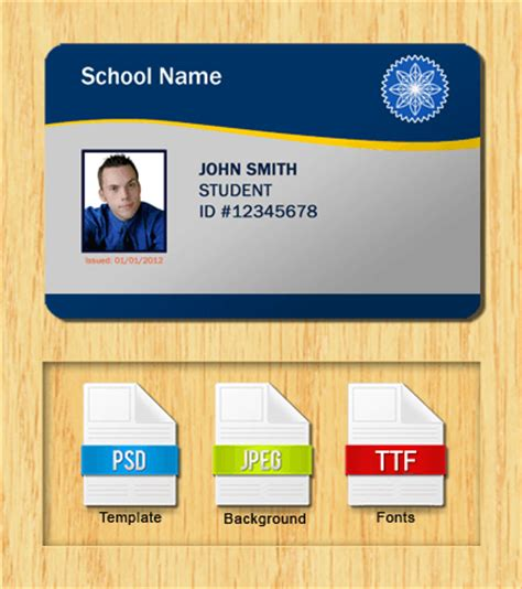 picture id card template student id templates