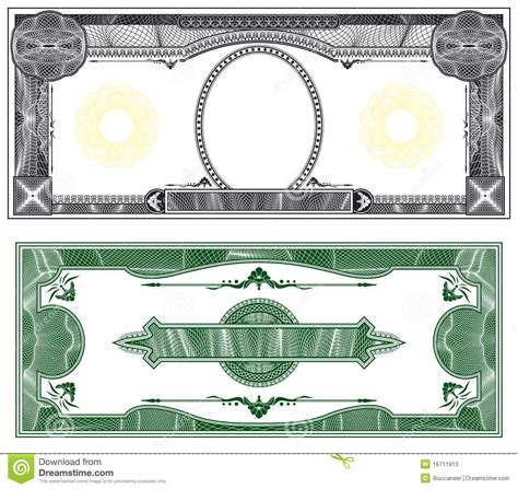 bank note template blank banknote layout stock photos image 16711913