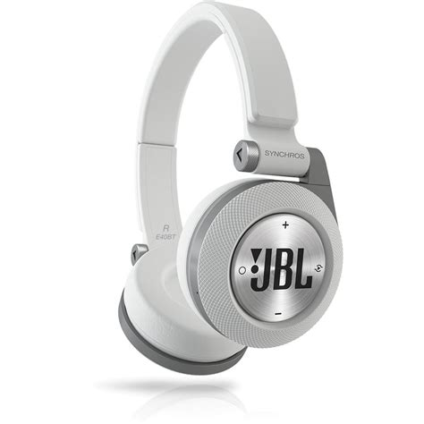 jbl synchros e40bt bluetooth on ear headphones white e40btwht