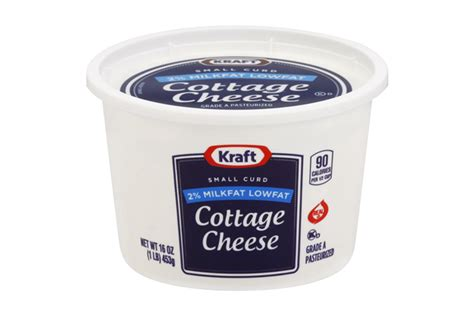 kraft cottage cheese kraft small curd 2 milkfat lowfat cottage cheese 16 oz