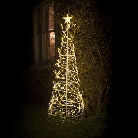 Noma Low Voltage Outdoor Lighting Noma 1 8m Indoor Outdoor Low Voltage 3d Gold Spiral Tree With Twinkling Led S Lights