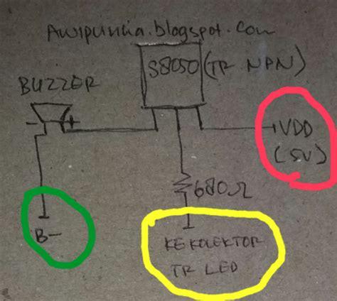 jenis transistor c9013 arwis modifikasi drone syma x8hw pasang buzzer