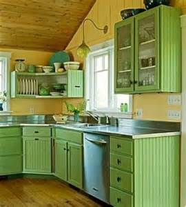 Green Cabinets In Kitchen Cheerful Summer Interiors 50 Green And Yellow Kitchen Designs Digsdigs