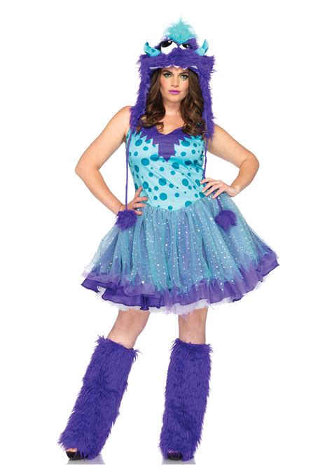 womens gizmo monster costume womens plus size polka dotty monster costume monster