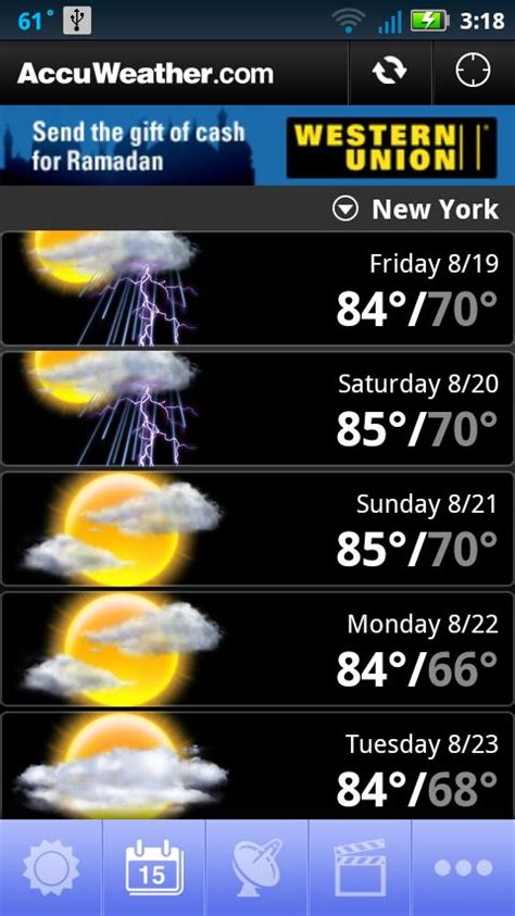 accuweather app for android accuweather android app review accuweather for android