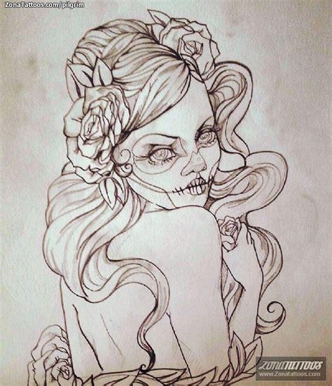 tatuaje de catrina 68948 a pelautscom tattoo tattooskid