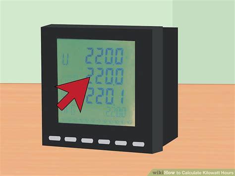 calculator kwh how to calculate kilowatt hours with calculator wikihow