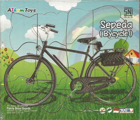 Puzzle Truk 17x20 puzzle sticker 17x20 sepeda mainan kayu