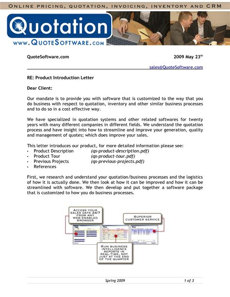 introduction letter product sle 28 images sales letter