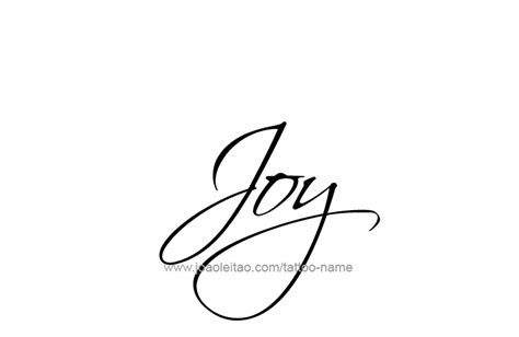 joy tattoo design name designs