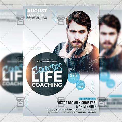Life Coaching Courses Business A5 Flyer Template Exclsiveflyer Free And Premium Psd Templates Coaching Flyers Templates